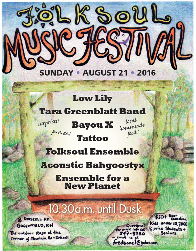 Folksoul Music Festival! @ Folksoul Outdoor Stage | Greenfield | New Hampshire | United States